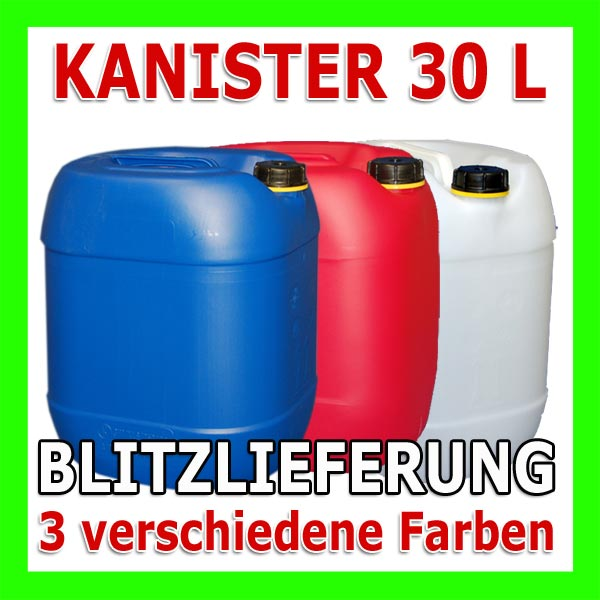 30 liter kanister 30l wasserkanister plastekanister. Black Bedroom Furniture Sets. Home Design Ideas