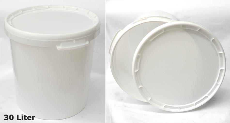 4 stk eimer 30 liter hobbock m deckel futtertonne tonne plastik ebay. Black Bedroom Furniture Sets. Home Design Ideas