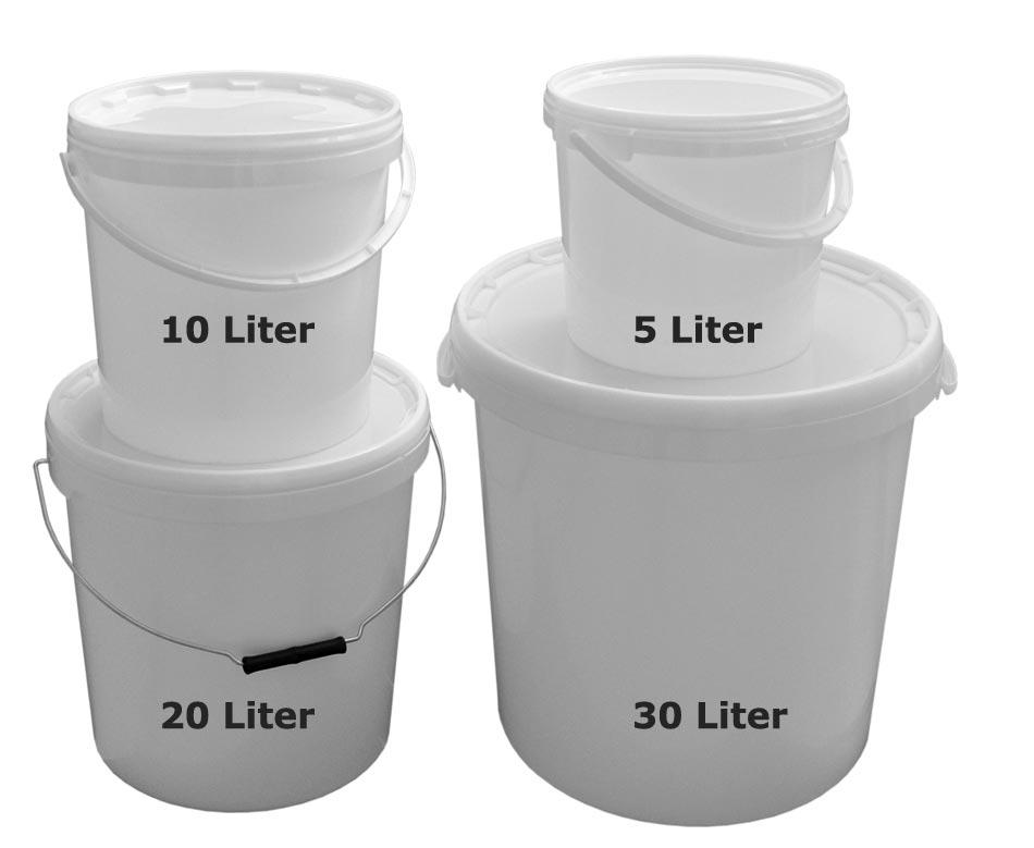 seaux r cipients hobbock plastique qualit alimentaire 5 10 20 30 litres ebay. Black Bedroom Furniture Sets. Home Design Ideas