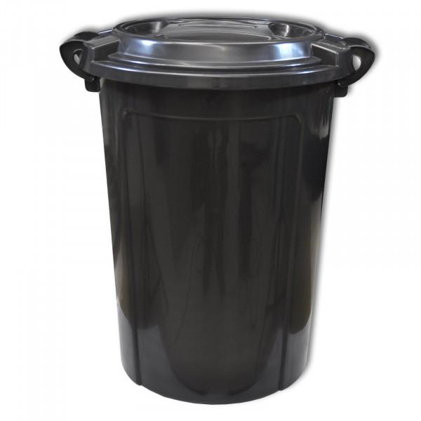 66 Liter Eimer schwarz
