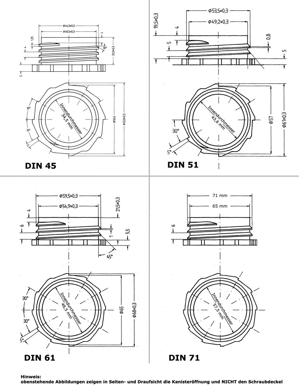 Long bec verseur flexible DIN 61 22037