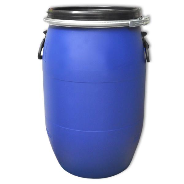 Deckelfass 60 Liter blau