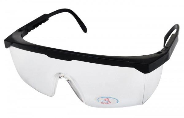 Schutzbrille klar schwarz