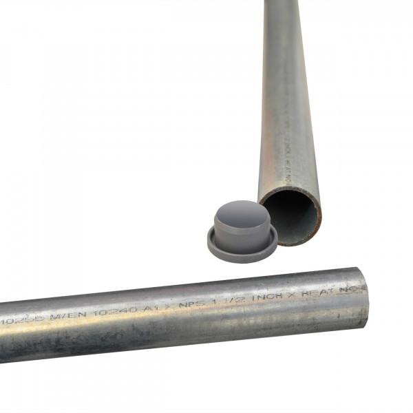 Sulo Befestigungsrohr Rohrpfahl für Papierkorb - verzinkter Stahl - mit Abdeckkappe