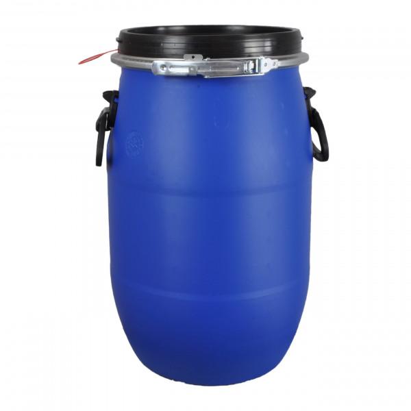 30 Liter Deckelfass, Kunststofffass, Weithalsfass mit Spannverschluss | Luftdicht Verschließbar
