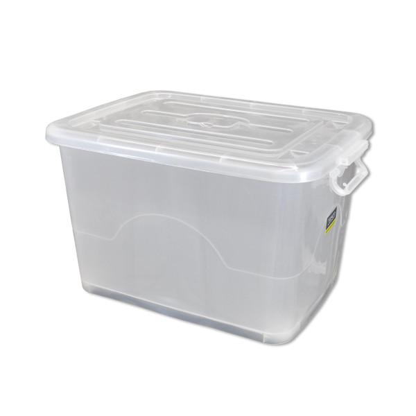 Rollenbox 35 Liter transparent