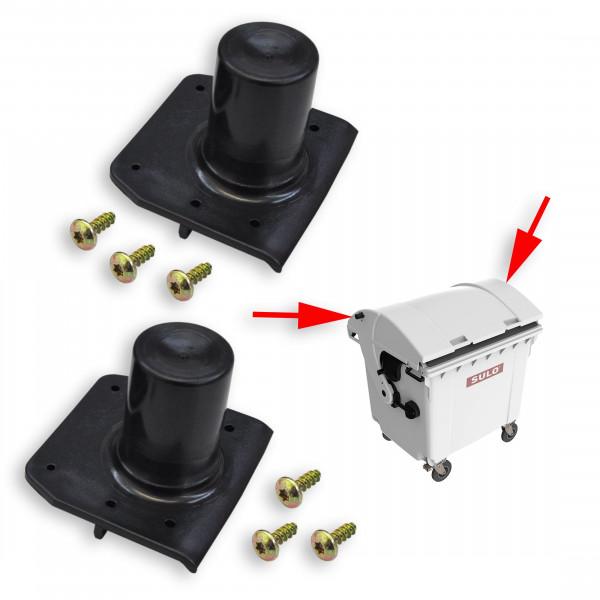 2 Stück SULO Deckelöffnungszapfen passend für SULO Müllcontainer mit Runddeckel