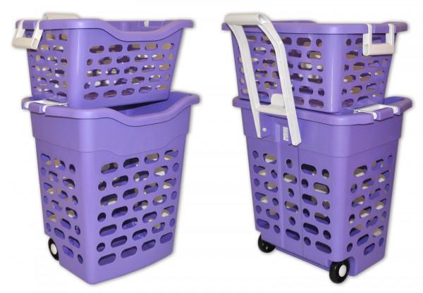 Wäschekorb fahrbar mit Einsatz