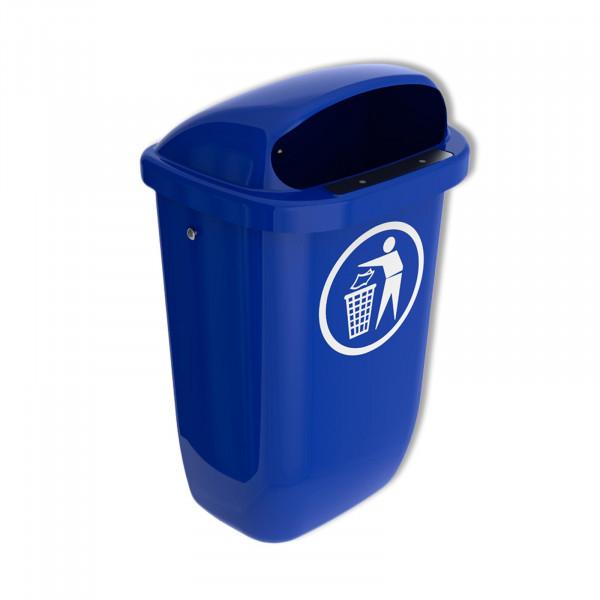 "Sulo Abfallbehälter ""Der Klassiker"" unter den Kunststoffpapierkörben blau"