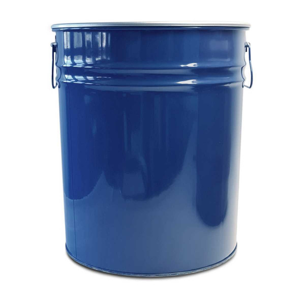 Hobbock sheet steel barrel 30 litres with lid