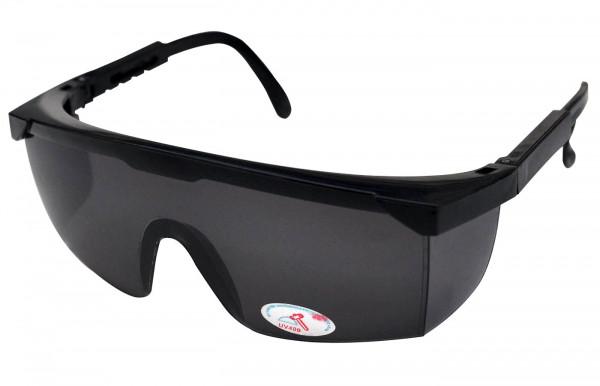 Schutzbrille getönt / schwarz