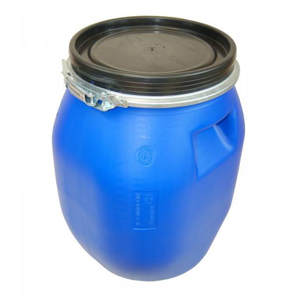 Deckelfass 30 Liter blau