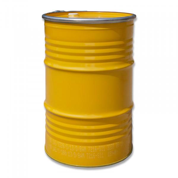 Deckelfass 213 Liter gelb