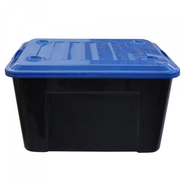 Rollenbox 550 Liter grau mit Deckel blau