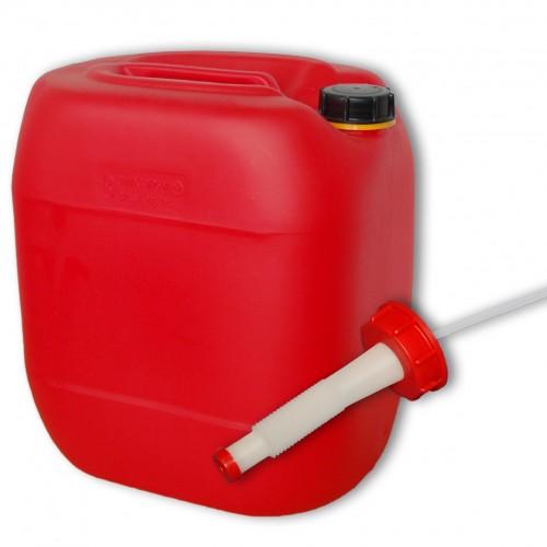 30 liter kanister rot ausgie er flexibel din61. Black Bedroom Furniture Sets. Home Design Ideas