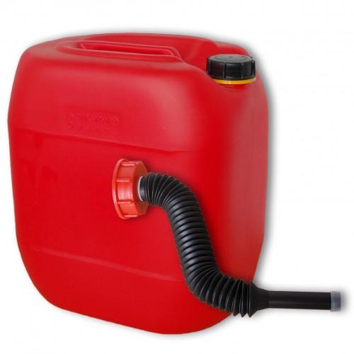 30 liter kanister rot ausgie er flexibel din61 lang. Black Bedroom Furniture Sets. Home Design Ideas