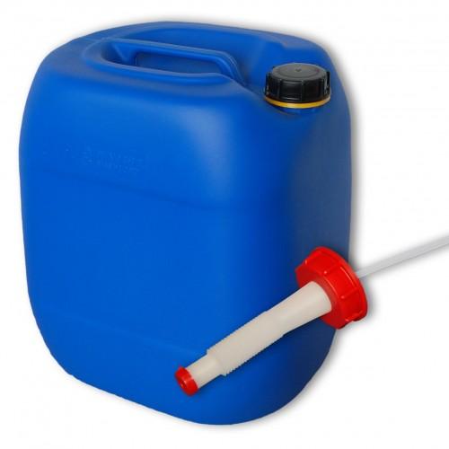 30 liter kanister blau ausgie er flexibel dn61. Black Bedroom Furniture Sets. Home Design Ideas