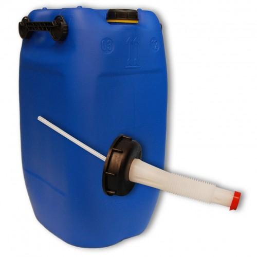 60 liter kanister mit 3 griffen blau ausgie er flexibel din71. Black Bedroom Furniture Sets. Home Design Ideas