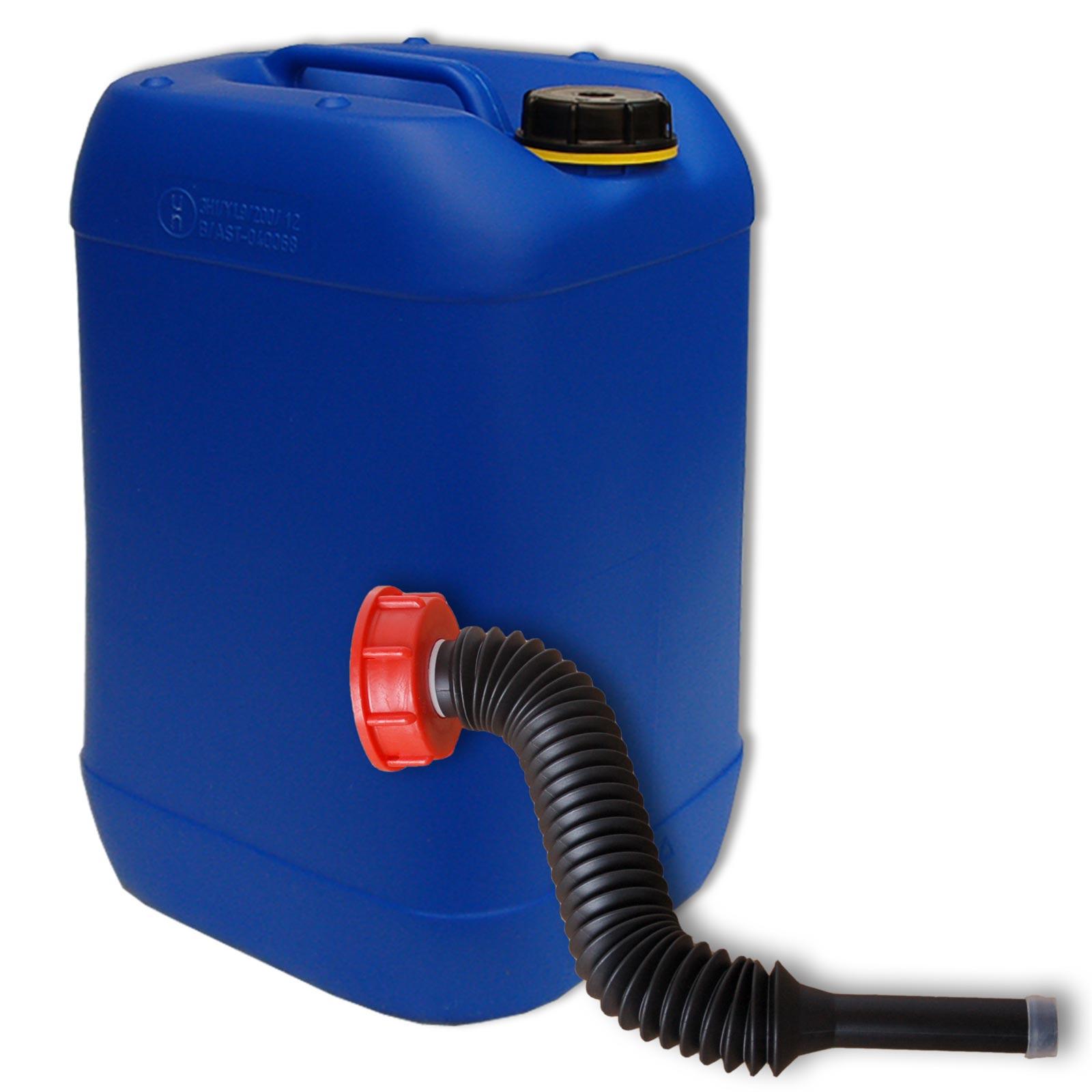 25 liter kanister blau ausgie er flexibel din61 lang. Black Bedroom Furniture Sets. Home Design Ideas