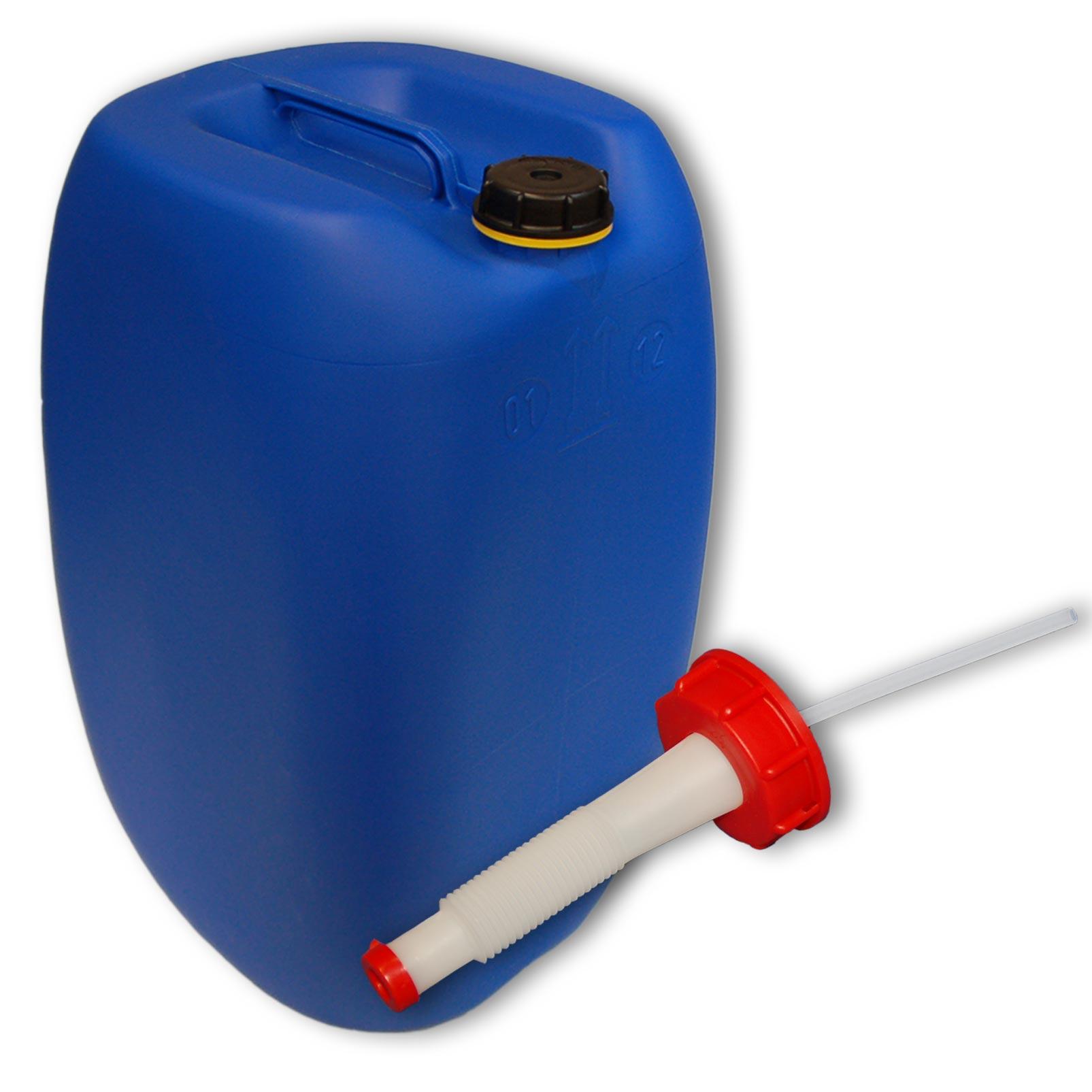 60 liter kanister mittelgriff blau ausgie er flexibel din61. Black Bedroom Furniture Sets. Home Design Ideas