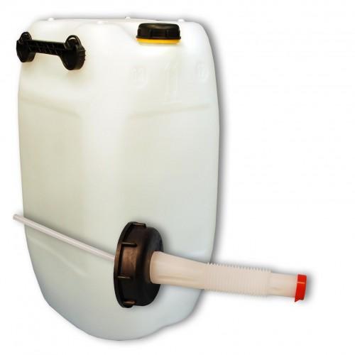 60 liter kanister mit 3 griffen natur ausgie er flexibel din71. Black Bedroom Furniture Sets. Home Design Ideas