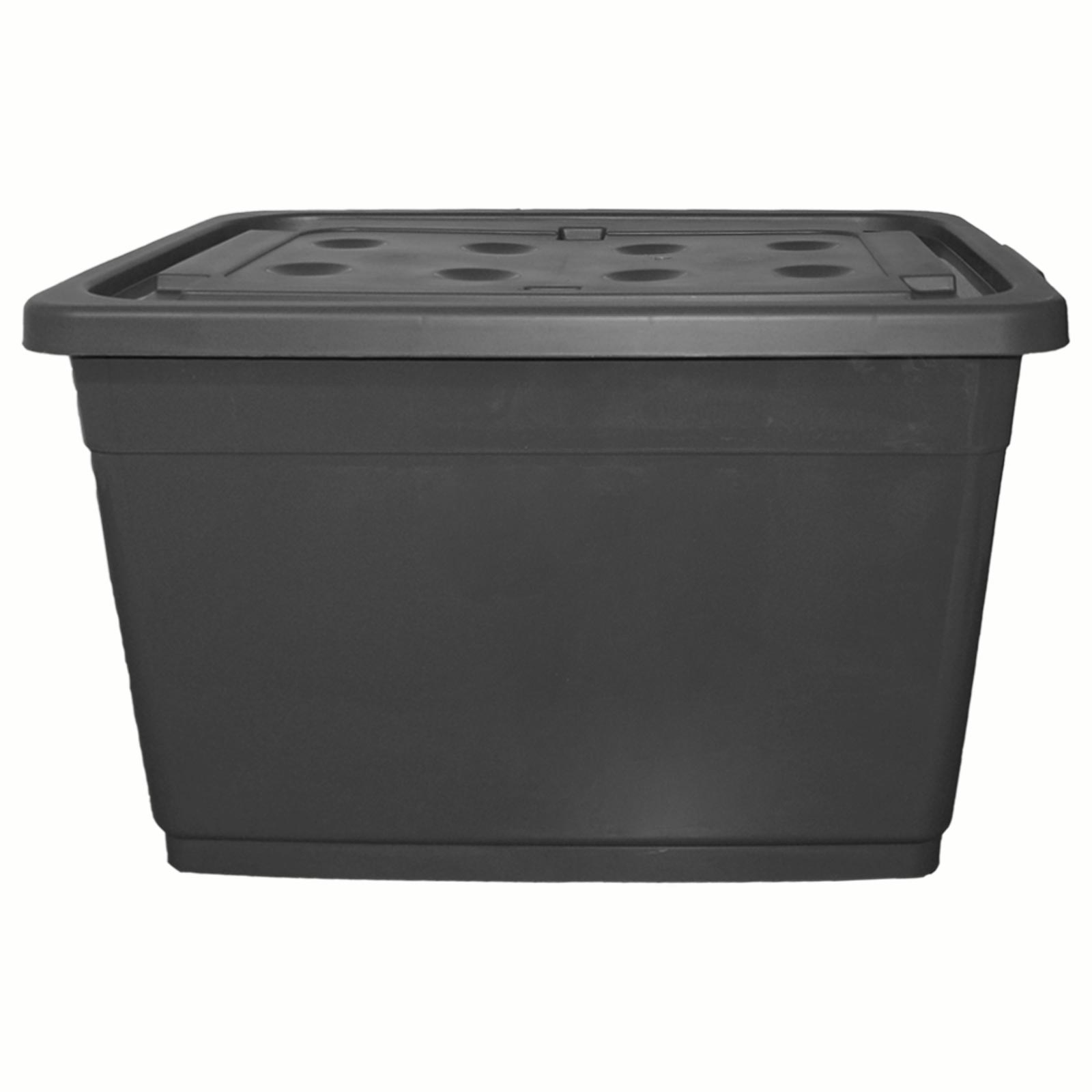 160 liter aufbewahrungsbox grau. Black Bedroom Furniture Sets. Home Design Ideas