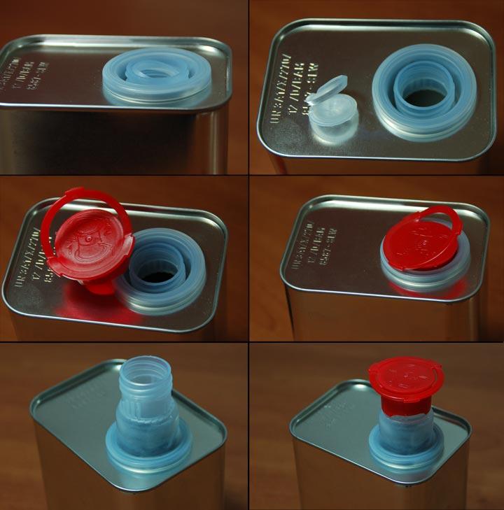 2x 1 liter eckig metallkanister kanister wei blech. Black Bedroom Furniture Sets. Home Design Ideas