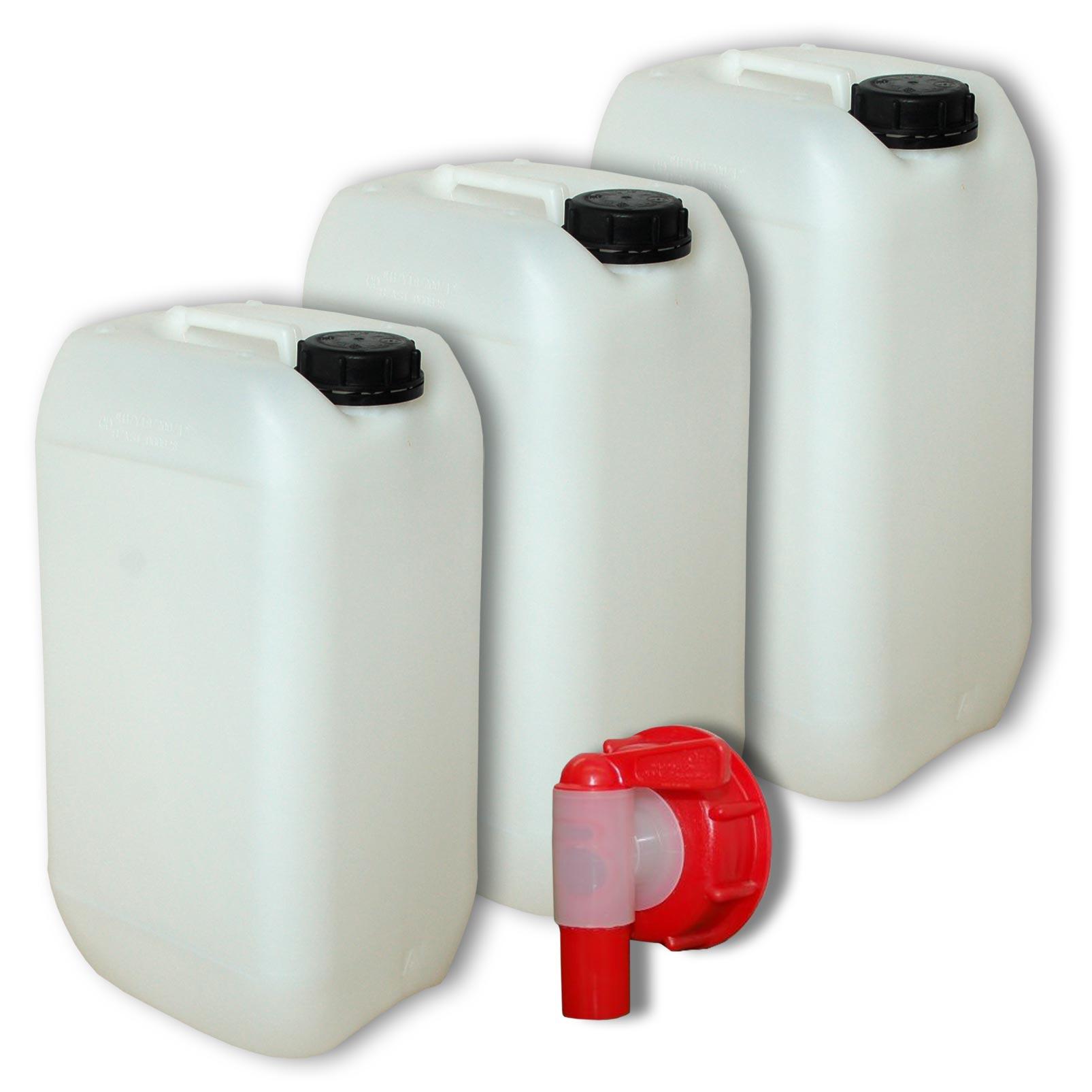 3 x 15 liter kanister mit deckel ein zapfhahn trinkwasser 3x22096 1x22010 ebay. Black Bedroom Furniture Sets. Home Design Ideas