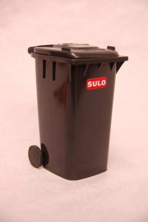 4x Mini Container Sulo 120l Gris Pot Crayons Vide Poche